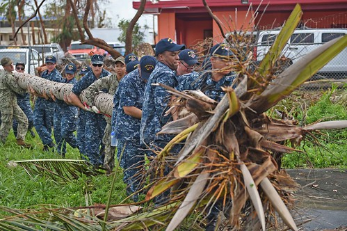 Sailors and Marines help a school back on its feet