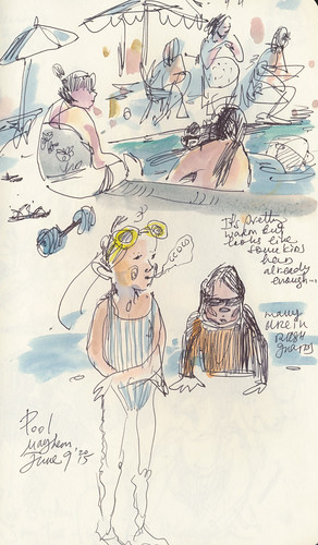 Sketchbook #90: More Swimming