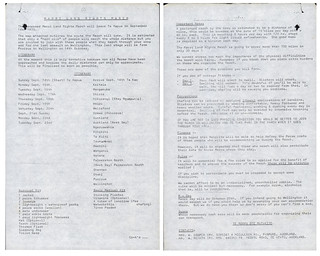 Māori Land March (1975) - Itinerary