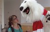 Interviewing the Cocacola bear JK by Mosaic Photos1