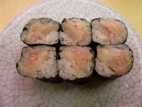 とろたく巻 天下寿司