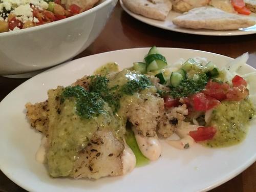 酥炸魚排, Fried Fish Filet, 沙巴巴中東美食, 沙巴巴, Sababa Pita Bar, 台北