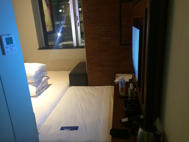 my tiny hotel room