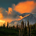 Fire In The Hole - Mt. Rainier Sunset by louelke - Gone for 2 weeks