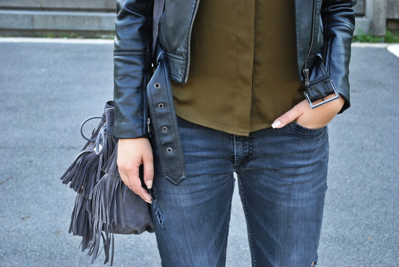 olive-green-shirt-leather-jacket-black-fedora-hat-fringe-bag-8