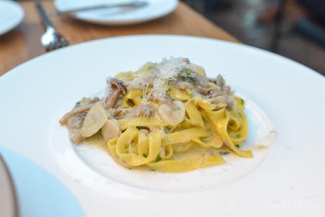 Tagliatelle foraged mushrooms, fiore sardo, thyme