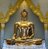 "Today's Buddha is known as ""The Golden Buddha"" and guess what? #bangkok"
