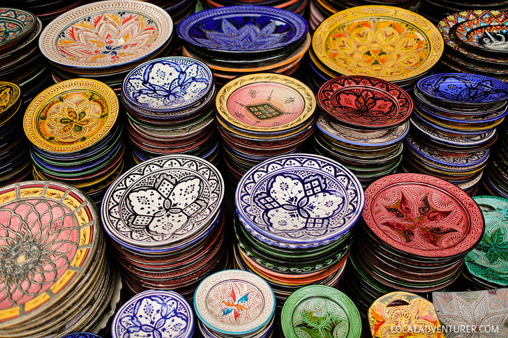 Safi Moroccan Serving Plates - Shopping in Marrakech Morocco.