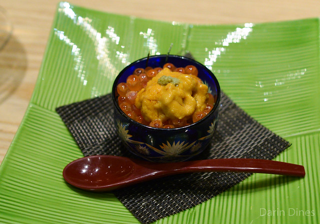 Sea Urchin with Salmon Eggs (uni with ikura)