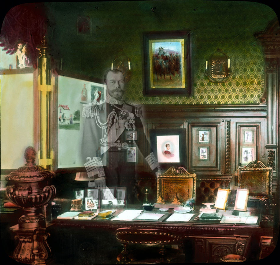 The Ghost of Nicholas II in his Study.