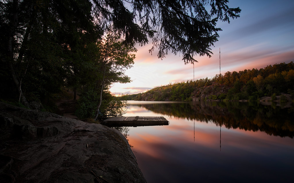 Lake Källtorp at Sunset