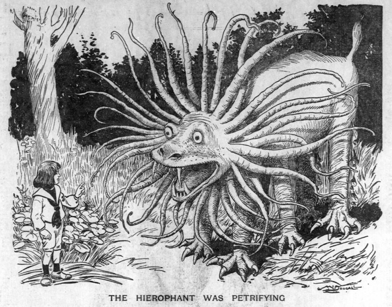 Walt McDougall - The Salt Lake herald., February 22, 1903, The Hierophant Was Petrifying
