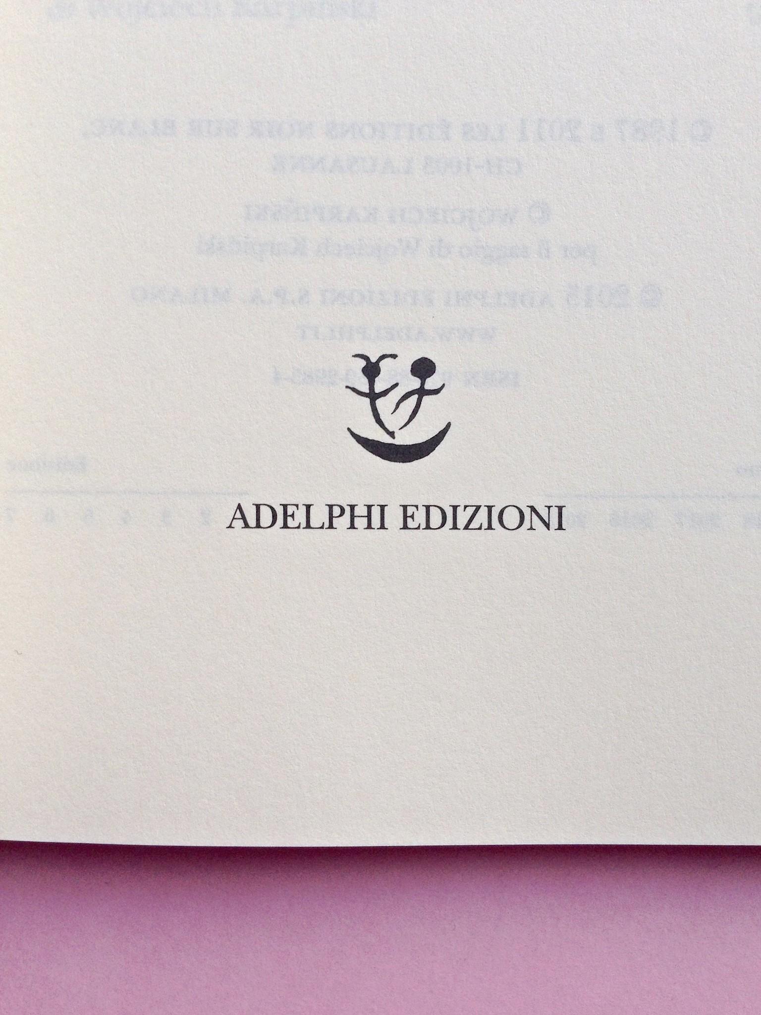 Proust a Grjazovec, di Józef Czapski. Adelphi 2015. Frontespizio, a pag. 5 (part.), 1