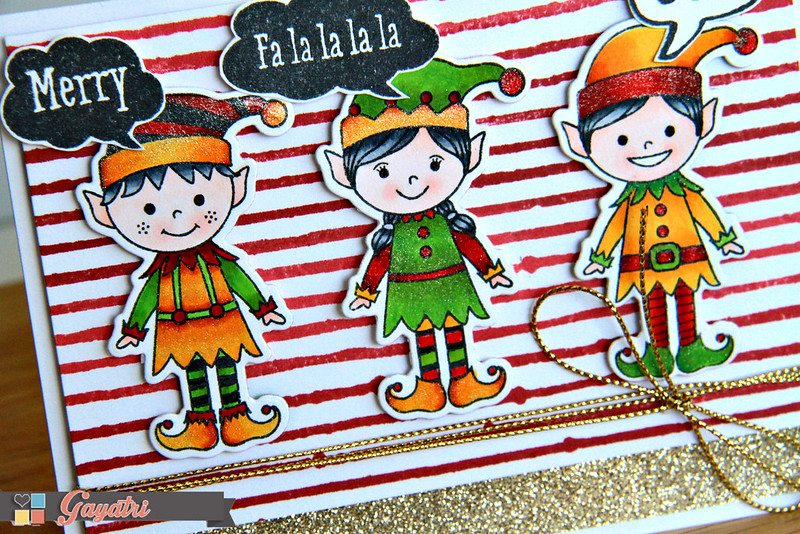 Christmas card closeup