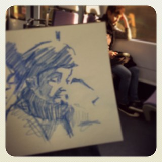 #train #urbansketch #pencil #colerase