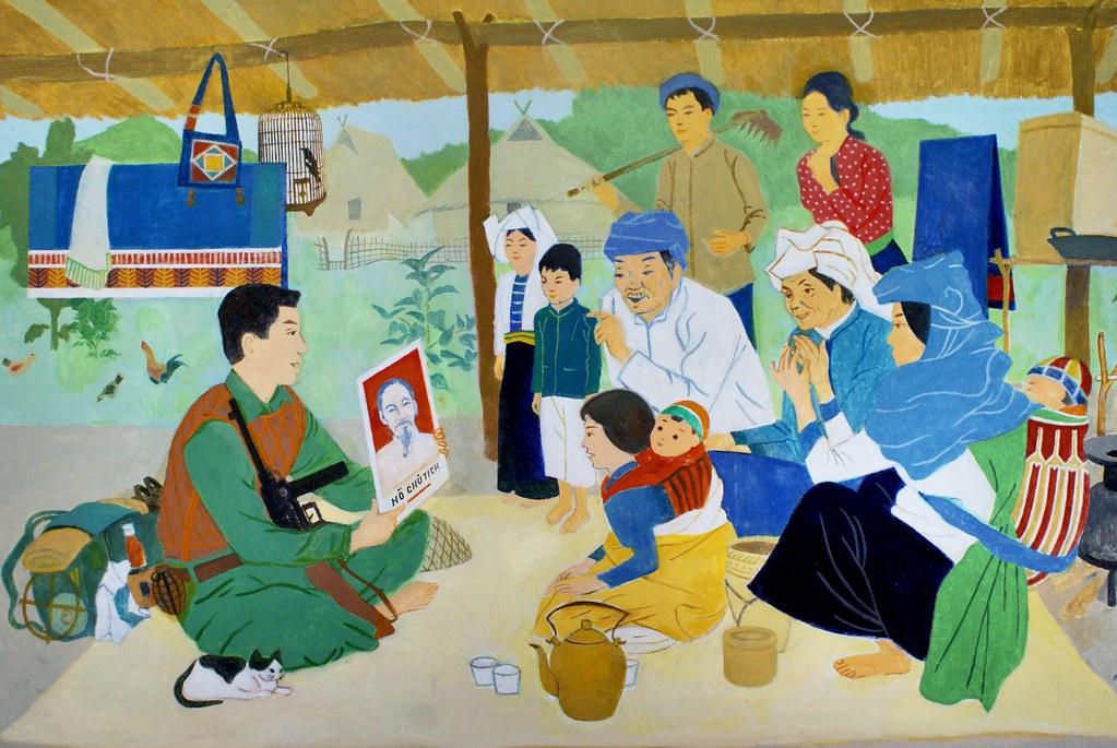 Vous pouvez imaginer la conversation qui va avec. Au Musée des Beaux Arts de Saigon.
