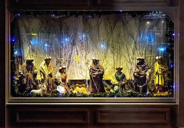 Brogans Pharmacy Nativity Window