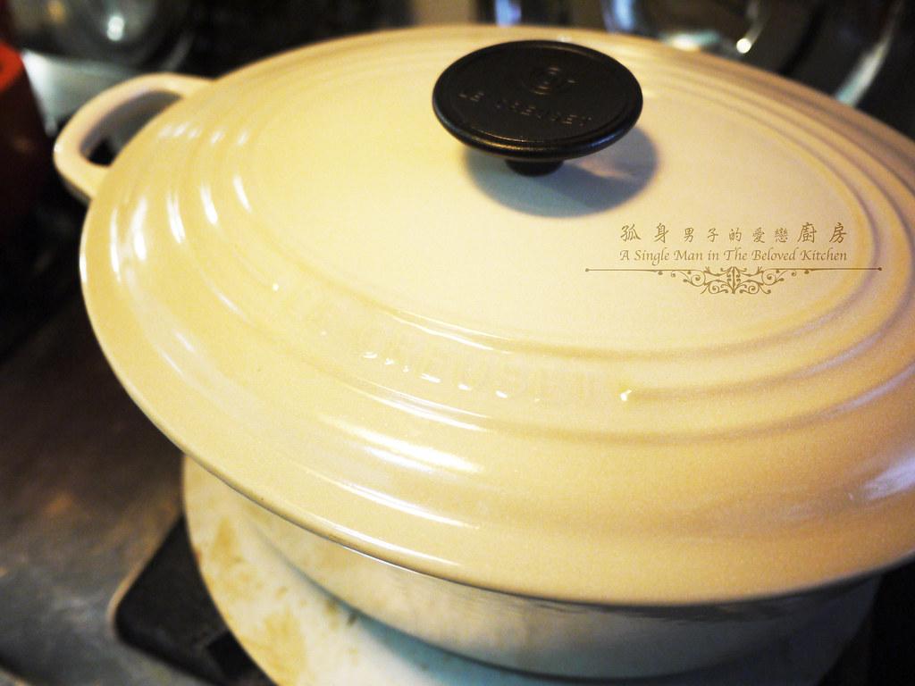 孤身廚房-海瓜子豌豆炊飯。《LE CREUSET鑄鐵鍋飯料理》試做14