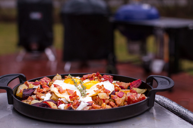 Red Flannel Hash on the Grill