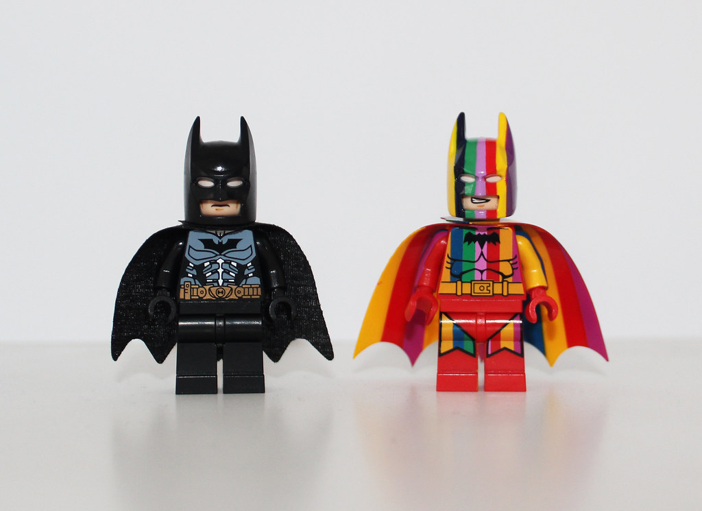 Lego Custom SDCC Batman & Rainbow Batman