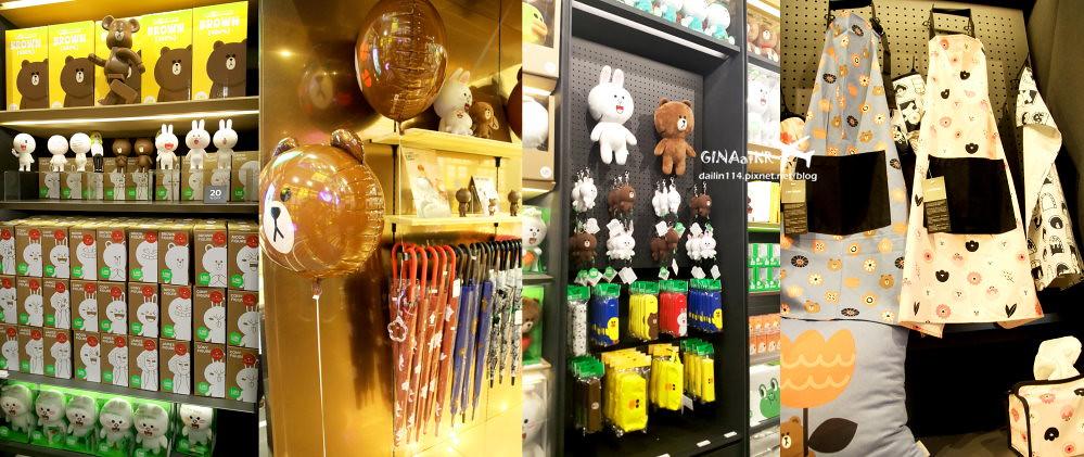 首爾購物》江南區 新沙站(신사역)LINE Friends Story官方周邊商品旗艦專賣店(라인프렌즈 플래그십 스토어)新沙林蔭大道店(신사 가로수길)+LINE CAFE 馬卡龍、熊大巧克力+附地圖(交通方式) @Gina Lin