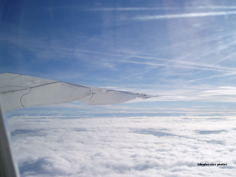 View from plane - flight Zürich-London