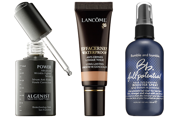 ALGENIST POWER ADVANCED WRINKLE FIGHTER SERUM, LANCOME EFFACERNES WATERPROOF PROTECTIVE UNDEREYE CONCEALER, BUMBLE AND BUMBLE FULL POTENTIAL HAIR PRESERVING BOOSTER SPRAY