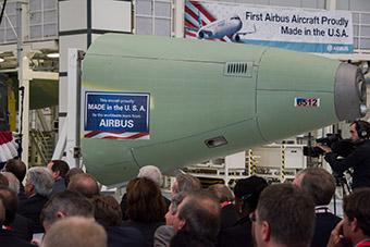 Airbus primer avión fabricado en Mobile Alabama (Airbus)
