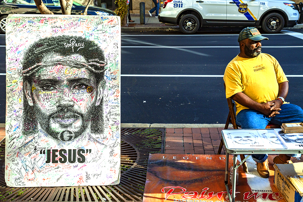 Black Jesus on 9-23-15--Center City
