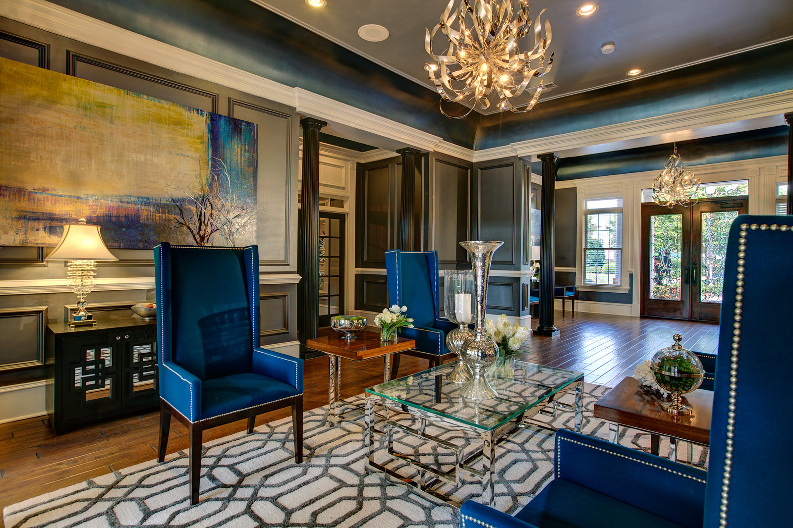 Interior design interior detailing model home for Residential clubhouse designs
