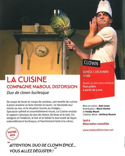 LA QUINTAINE à Chasseneuil du Poitou - 2015 - Duo de clown burlesque : LA CUISINE - 05 12 2015