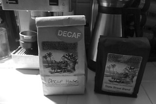 Santa Barbara Roasting Company - Coffee bags bw by roland luistro, on Flickr