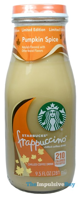 Limited Edition Pumpkin Spice Starbucks Frappuccino Coffee Drink