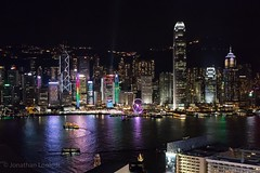 Hong Kong Island from high on Kowloon at night. #travel #hongkong #city