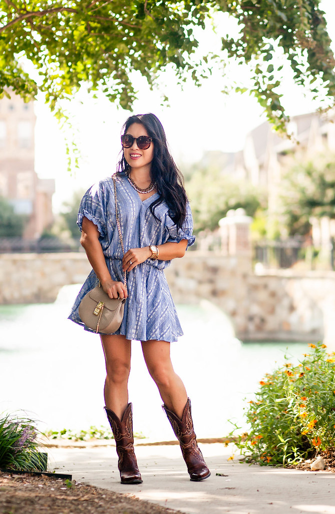 a228267b619e Chambray Dress + Cowboy Boots - cute   little