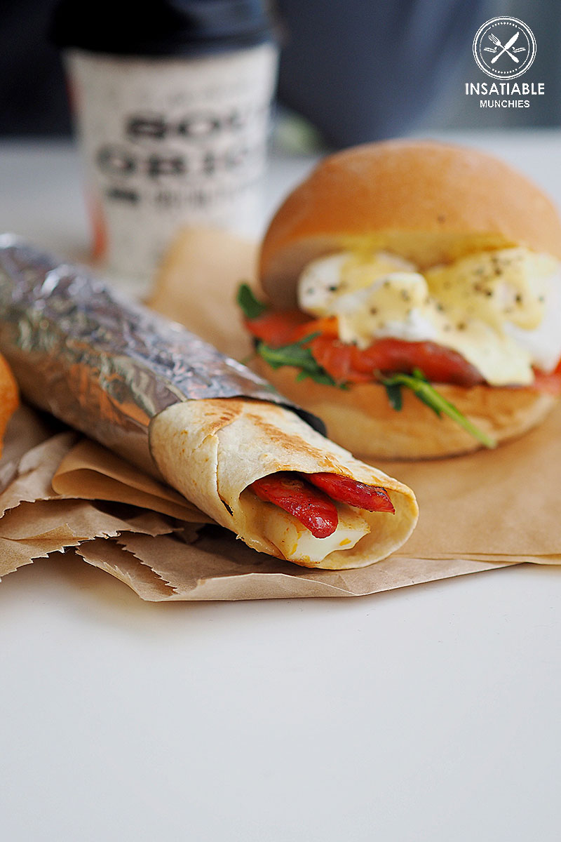 Chorizo and Egg Wrap, Soul Origin, Rhodes: Sydney Food Blog Review