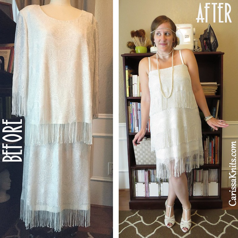 Flapper Costume - Before & After