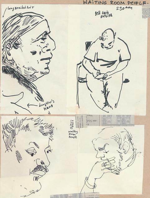 Sketchbook #93: Waiting Room People