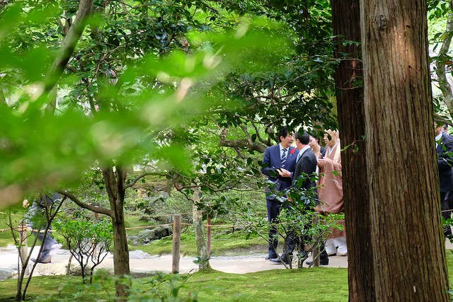 Japanese and French prime ministers at Ginkakuji