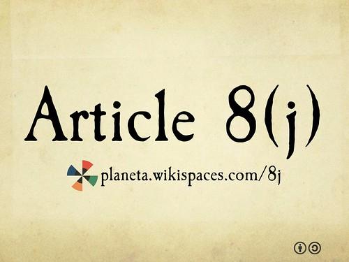 Article 8(j)