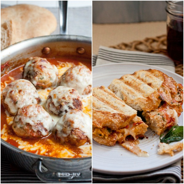 Skilled Baked Chicken Parmesan Meatballs and Toasted Chicken Parm Meatball Sandwiches