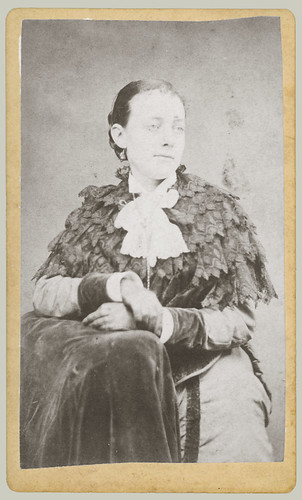CDV woman with shawl