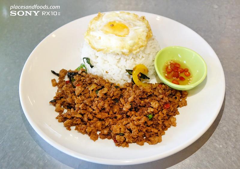 ngam bangsar thai basil with minced chicken