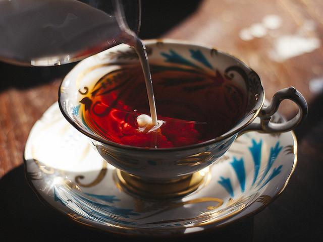 milky tea.