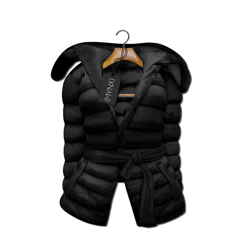 {MYNX} Puffy Tie Jacket - Black Ad