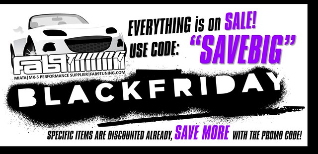BLACK FRIDAY through CYBER MONDAY SALES! Save on EVERYTHING! - Miata