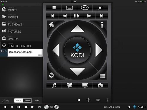 Kodiリモコンアプリ
