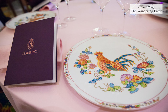 Chanteller menu at Hotel Negresco