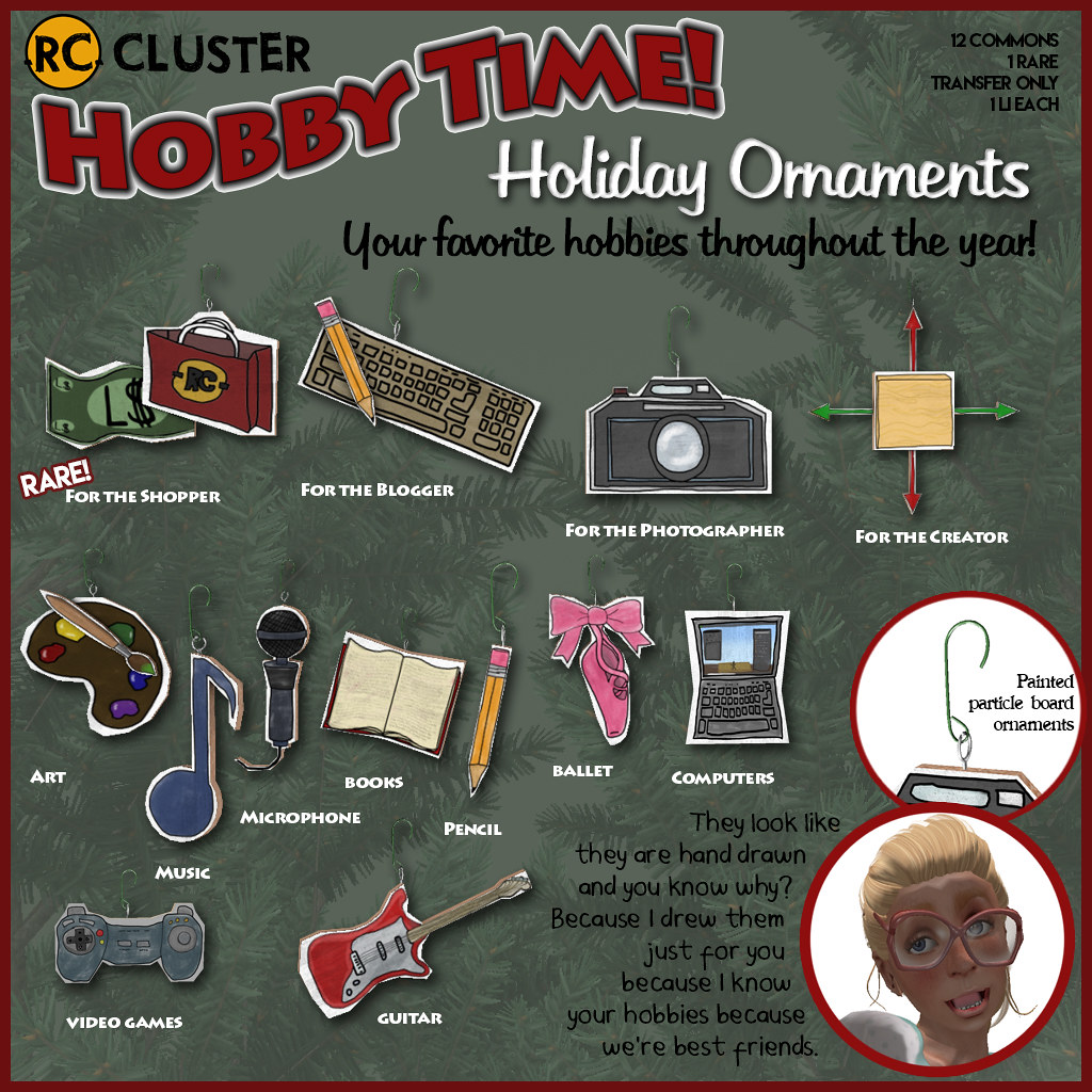 -RC- Hobby Time Ornaments - SecondLifeHub.com