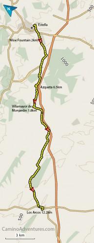 Estella-to-Los-Arcos-Map-193x500